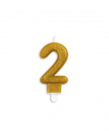 Vela núm. 2 dorada