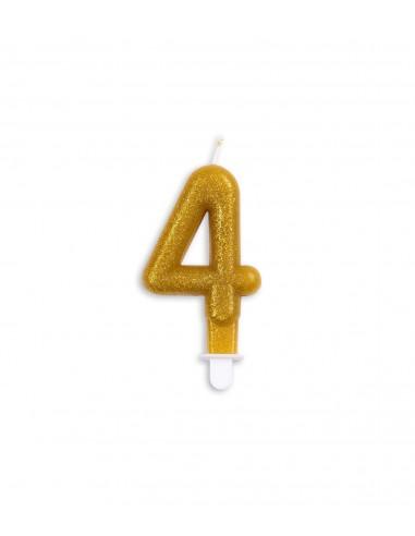 Vela núm. 4 dorada