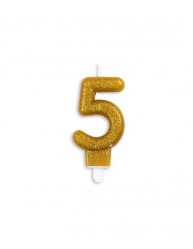 Vela núm. 5 dorada